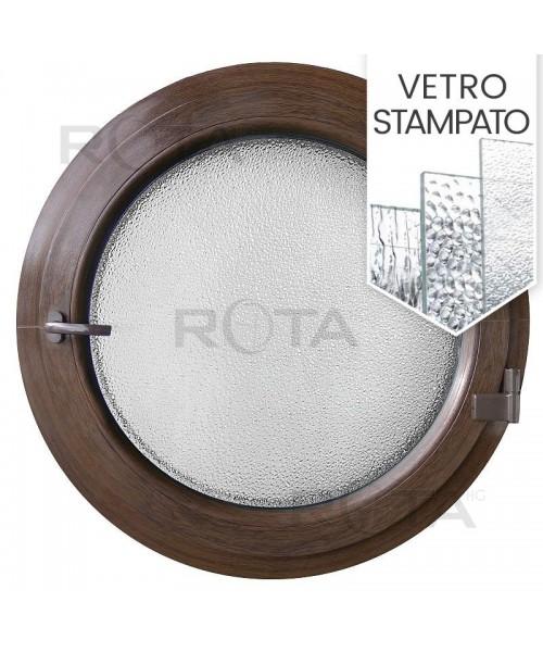 Finestra oblò a battente in PVC Colore interno e esterno