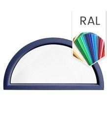 Finestra semicircolare mezzaluna fissa in PVC colore RAL