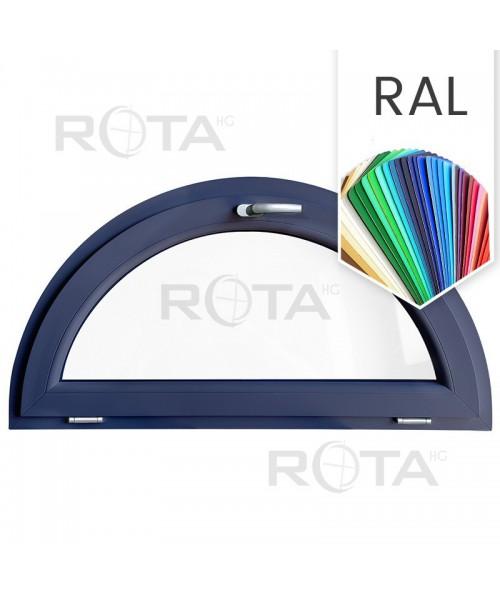 Finestra semicircolare a vasistas mezzaluna in PVC colore RAL
