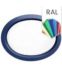 Finestra ovale fissa orizzontale in PVC colore RAL