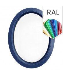 Finestra ovale fissa verticale PVC colore RAL