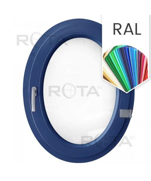 Finestra ovale a battente oblò in PVC colore RAL