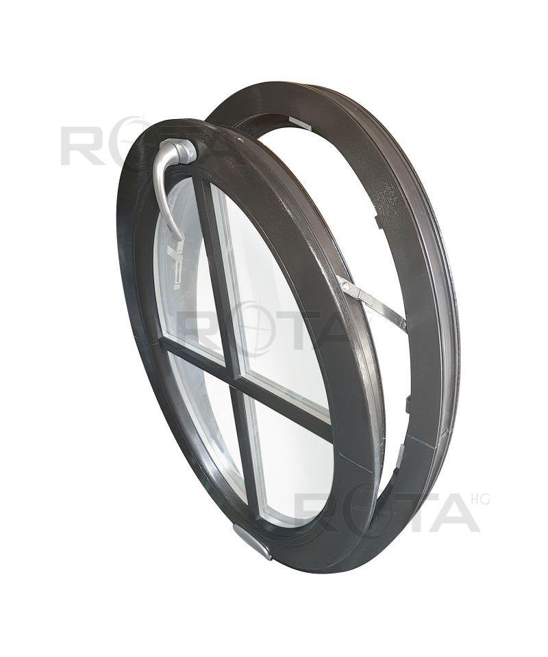 NOCE Finestre in PVC cerchio//oblo VEKA  FISSO QUERCIA DORATA colore esterno