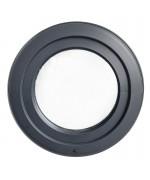 Finestra rotonda a vasistas PVC colore legno con profilo a Z