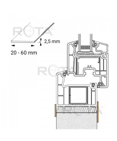 Profilo piatto in PVC per le finestre rotonde