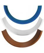 Profilo angolare largo in PVC per finestra rotonda