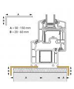 Profilo angolare in PVC per finestra rotonda