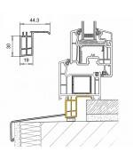 Profilo scatolato in PVC per le finestre rotonde