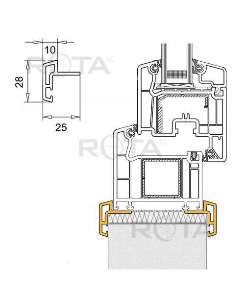 Profilo di raccordo in PVC per le finestre semicircolari