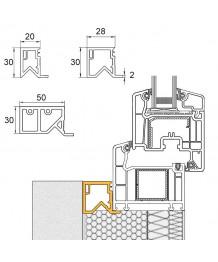 Profilo di tamponamento in PVC per le finestre semicircolari