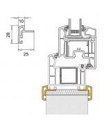 Profilo di raccordo in PVC per le finestre ovale