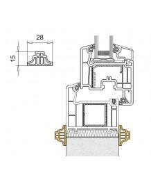 Profilo di raccordo decorativo in PVC per le finestre ovale