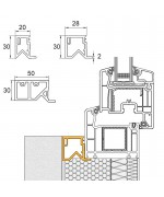 Profilo di tamponamento in PVC per le finestre ovale