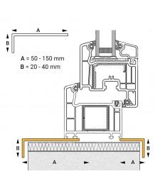 Profilo angolare piccolo in PVC per finestra ovale