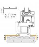 Profilo angolare in PVC per finestra ovale