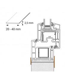 Profilo piatto in PVC per le finestre ovale