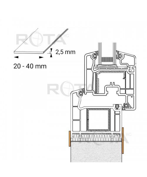 Profilo piatto in PVC per le finestre rotonde, per la finitura interna ed esterna, si raccomanda di sigillare la fessura tra il