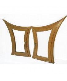 Finestre ad arco 650x1200 a vasistas PVC Quercia dorata