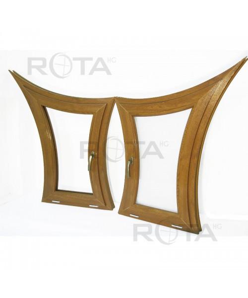 Finestre ad arco a vasistas PVC Quercia dorata