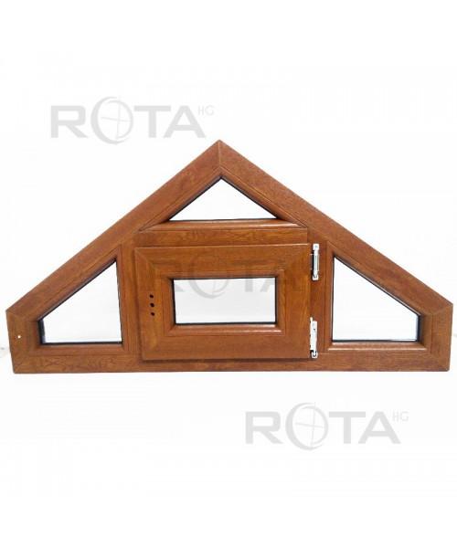 Finestra trapezoidale ad un'anta PVC Quercia dorata