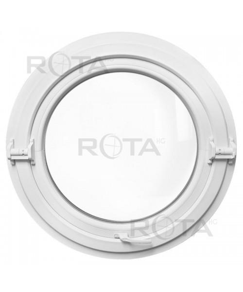 Finestra rotonda oblò a bilico in PVC Bianco