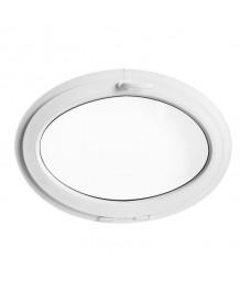 Finestra ovale a vasistas oblò PVC bianco (orizzontale)