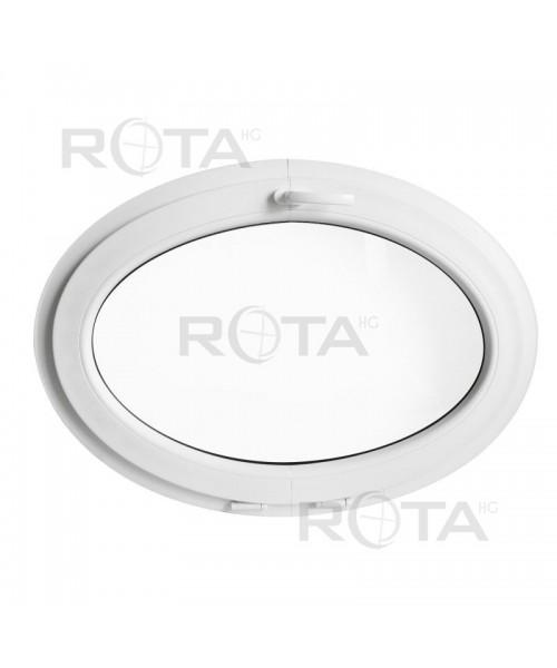 Finestra ovale a vasistas oblò in PVC Bianco orizzontale