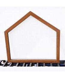 Finestra trapezoidale 1160x1100 fissa PVC Quercia dorata