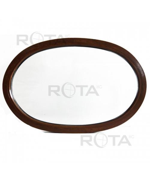Finestra ovale fissa 1300x870 in PVC colore Noce