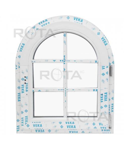 Finestre ad arco 700x820 a battente PVC Bianco con inglesina esterna