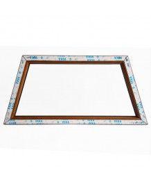 Finestra trapezoidale 1300x600 fissa PVC Quercia dorata